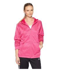 Adidas Pink Team Issue Full Zip Hoodie (real Magenta) Women