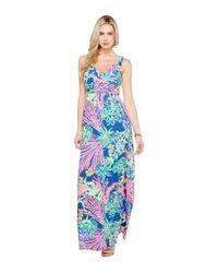Lilly Pulitzer - Blue Sloane Maxi Dress (multi Playa Hermosa) Women's Dress - Lyst