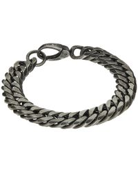 "Steve Madden | Metallic Burnished Stainless Steel 8"" Double Curb Chain Bracelet 