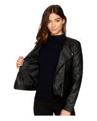 Jack BB Dakota Black Louis Drapey Soft Pu Cropped Jacket