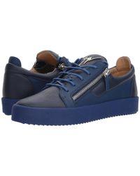 Giuseppe Zanotti Blue May London Tone-on-tone Low Top Sneaker for men