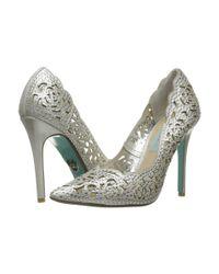 Betsey Johnson - Blue Elsa (silver Fabric) High Heels - Lyst