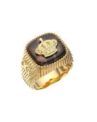 Dolce & Gabbana - Metallic Leopard Ring - Lyst