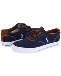 Polo Ralph Lauren Blue Vaughn Canvas/leather for men