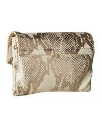 Botkier Multicolor Vivi Triple Pouch Crossbody (ivory Snake) Cross Body Handbags