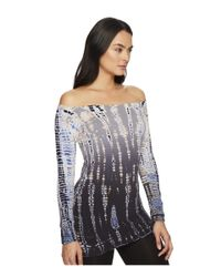 Hard Tail - Blue Sexy Off Shoulder Tee (lizard Ombre 1) Women's T Shirt - Lyst