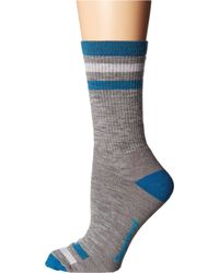 Smartwool - Gray Striped Hike Medium Crew - Lyst