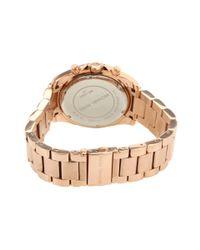 Michael Kors Metallic Mk5263 - Blair Chronograph (rose Gold) Analog Watches