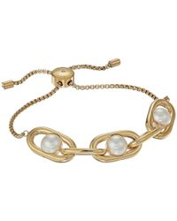 Michael Kors - Metallic Pearl Link Slider Bracelet - Lyst