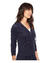 Juicy Couture - Blue Robertson Microterry Jacket (regal) Women's Coat - Lyst
