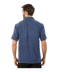 Quiksilver Blue Aganoa Bay 4 Woven Top (black) Men's Clothing for men
