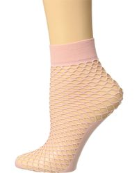 Steve Madden - Pink Fishnet Anklet With Solid Foot - Lyst