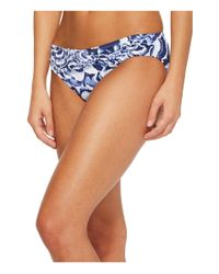 Tommy Bahama Pansy Petals Twist-front Hipster Bikini Bottom (white) Swimwear