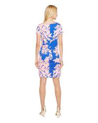 Lilly Pulitzer Blue Short Sleeve Marlowe Dress (nauti Navy Capri Soleil) Women's Dress