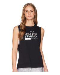 Nike Black Sportswear Metallic Tank Top