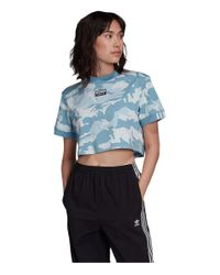 Adidas Originals Blue Cropped Tee