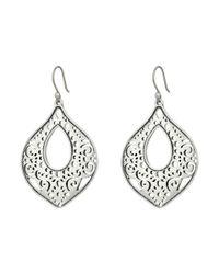Lucky Brand - Metallic Openwork Drop Earrings - Lyst