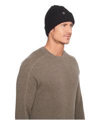 Ugg - Black Ribbed Cuff Hat for Men - Lyst