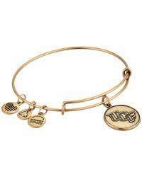 ALEX AND ANI Metallic University Of Central Florida(r) Logo Charm Bangle (rafaelian Gold Finish) Bracelet
