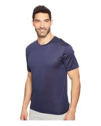 Hanro Blue Cotton Sporty Short Sleeve Shirt for men