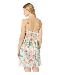 Lucky Brand Multicolor Sunny San Diego Ruffle Swing Dress Cover-up