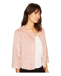 Sanctuary Pink Faux Real Chubby Jacket