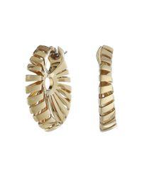 Miseno Metallic Ventaglio 18k Gold Earrings