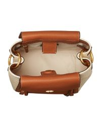 Tory Burch - Brown Half-moon Straw Crossbody - Lyst