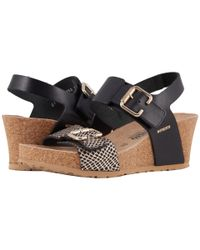 Mephisto Black Lissandra (nickel Star/white Cuba) Women's Wedge Shoes