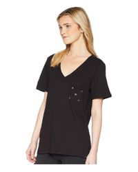 Hurley Hallow Perfect Short Sleeve V Tee (black) T Shirt