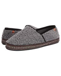 Acorn Gray Woven Trim Moc for men