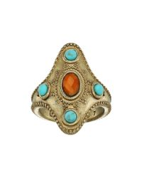 Lucky Brand - Metallic Beaded Statement Ring - Lyst