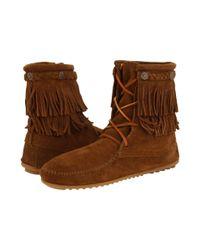 Minnetonka Brown Concho Fringe Boots