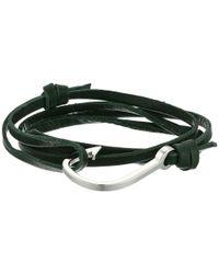 Miansai - Multicolor Hook On Leather Bracelet (verde) Bracelet - Lyst