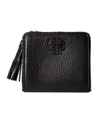 Tory Burch Black Taylor Mini Wallet