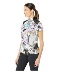 Jamie Sadock - Blue Tsunami Print Short Sleeve Top (pacifica) Women's Clothing - Lyst