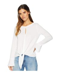 Michael Stars Rylie Rayon Knotted Blouse (white) Women