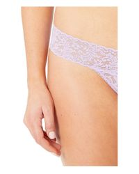 Hanky Panky Multicolor Petite Signature Lace Low Rise Thong (agave Green) Women's Underwear