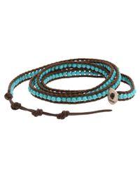 Chan Luu - Blue Semiprecious Stone Wrap Bracelet - Lyst