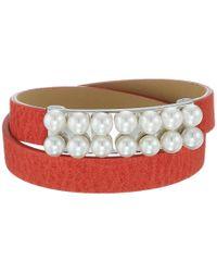 Majorica - Multicolor 6mm Leather Bracelet - Lyst