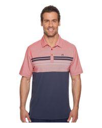Travis Mathew - Multicolor Boomer Polo (heather American Beauty) Men's Short Sleeve Knit for Men - Lyst