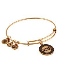 ALEX AND ANI Metallic Alpha Omnicron Pi Charm Bangle (rafaelian Gold Finish) Bracelet