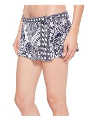 Tommy Bahama - Blue Paisley Paradise Skirted Hipster Bikini Bottom (mare Navy) Women's Swimwear - Lyst