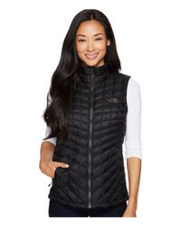 The North Face Black Thermoball Vest (mid Grey/violet Pink) Women
