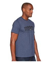 Toad&Co - Blue Woods To Live By Short Sleeve Tee (navy Heather) Men's T Shirt for Men - Lyst