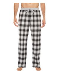 True Grit Gray Shadow Plaid Flannel Pajama Pants With Heather Knit Trim (charcoal) Pajama for men