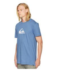 Quiksilver - Blue Comp Logo Tee (black/white) Men's T Shirt for Men - Lyst