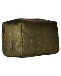 MCM | Green Dieter Monogrammed Nylon Small Cosmetic Pouch | Lyst