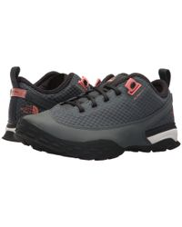 The North Face Gray One Trail (turbulence Grey/desert Flower Orange) Women's Shoes