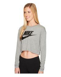 Nike Gray Sportswear Irreverent Crop Top